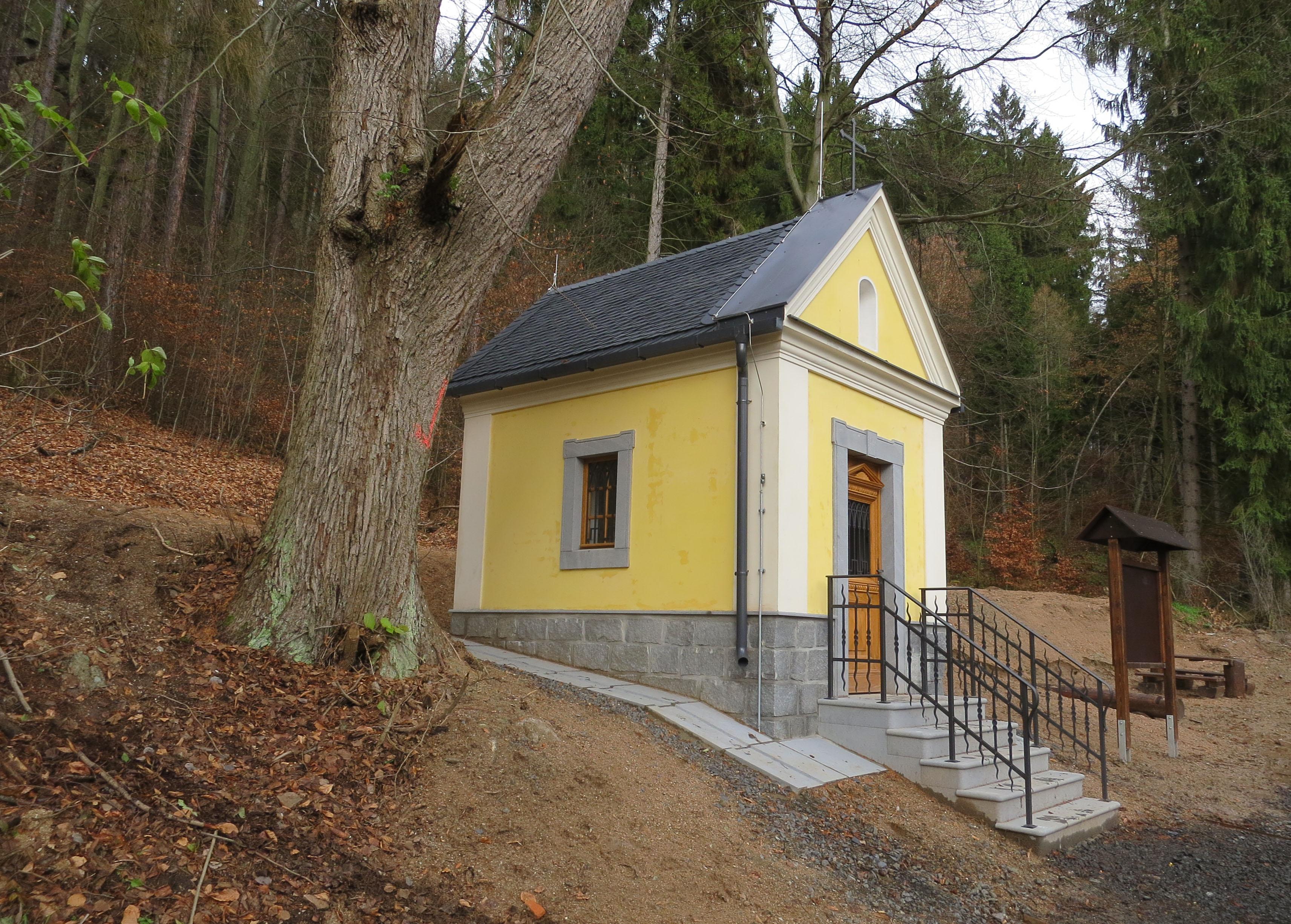Výstavba Flaschnerovy kaple v Hroznětíně